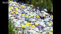 Des millions de pèlerins musulmans prient sur le Mont Arafat