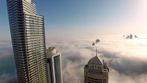 Leap of Faith BASE Jump into Clouds