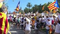 Des centaines de milliers de Catalans pour l'indépendance