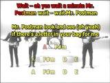 Please Mr Postman Beatles best karaoke instrumental lyrics chords