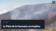 A la Réunion, le Piton de la Fournaise est en éruption