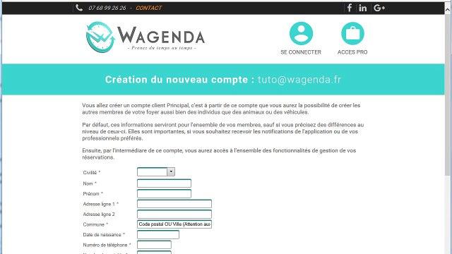 Wagenda comment créer un compte utilisateur