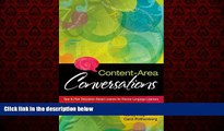 For you Content-Area Conversations: How to Plan Discussion-Based Lessons for Diverse Language
