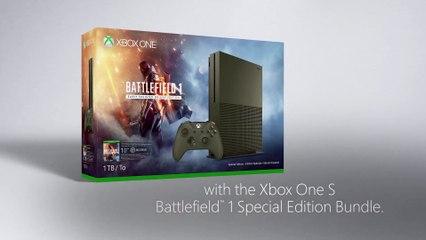 The new Xbox One S Battlefield 1 Special Edition Bundle de Battlefield 1