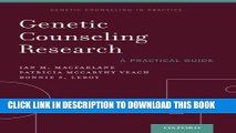 Collection Book Genetic Counseling Research: A Practical Guide (Genetic Counselling in Practice)