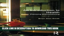 [PDF] An Introduction To Health: Policy, Planning and Financing Popular Colection