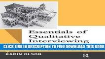 New Book Essentials of Qualitative Interviewing