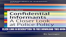 PDF] Confidential Informants: A Closer Look at Police Policy