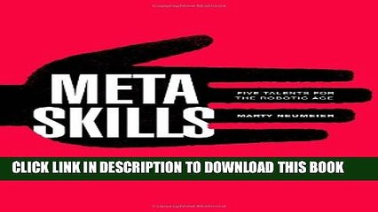 [PDF] Metaskills: Five Talents for the Robotic Age Full Online