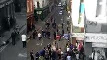 Des hooligans s'affrontent dans les rues de Manchester en marge du derby United v City