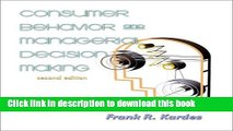 Read Consumer Behavior and Managerial Decision Making (2nd Edition)  Ebook Free