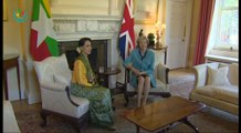 UK P.M Theresa May welcomes Daw Aung San Suu Kyi