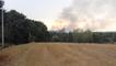Incendie feu d'espaces naturelles