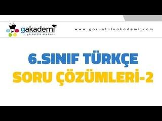 6.Sınıf Türkçe Soru Çözümleri
