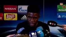 """Samuel Umtiti : """"Heureux de jouer avec Leo Messi, le meilleur joueur du monde"""""""