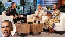 Stephen Curry Imitates President Obama On 'Ellen'