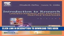 [PDF] Introduction to Research: Understanding and Applying Multiple Strategies (Depoy,