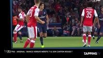 PSG - Arsenal : Marco Verrati VS Olivier Giroud, le carton rouge qui fait polémique (Vidéo)
