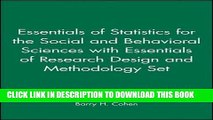 [PDF] Essentials of Statistics for the Social and Behavioral Sciences with Essentials of Research