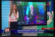José Luis Rodríguez 'El Puma' dio concierto con ayuda de oxígeno