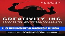 New Book Creativity, Inc.: Overcoming the Unseen Forces That Stand in the Way of True Inspiration