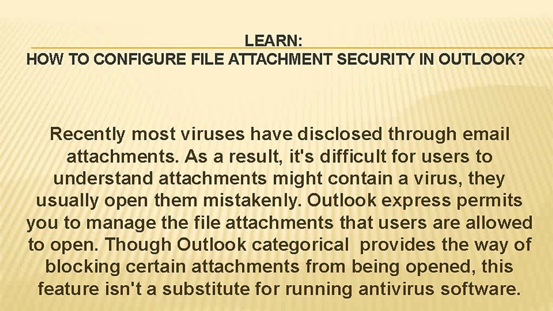 How to Configure File Attachment Security in Outlook