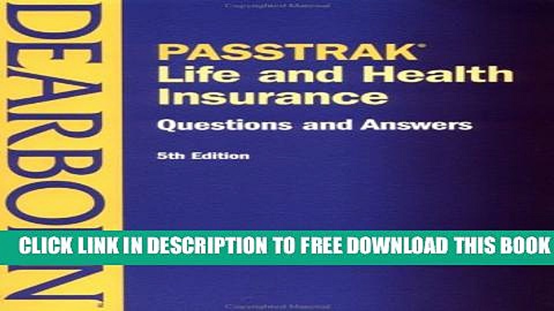 New Book PASSTRAK Life and Health Insurance Questions   Answers, 5E (Life and Health Insurance