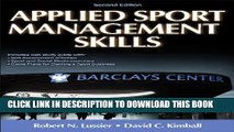 New Book Applied Sport Management Skills-2nd Edition With Web Study Guide
