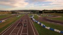 Vue aérienne (drone) du Circuit de la Vallée Sport Karting de Pusey en Haute-Saône