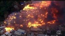 Incêndio de grandes proporções destrói favela em Osasco