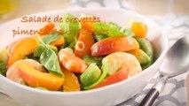 Recette de la salade de crevettes pimentée aux abricots