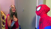 Spiderman Kisses Wonder Woman! Frozen Elsa, Joker, Superhero Movie!