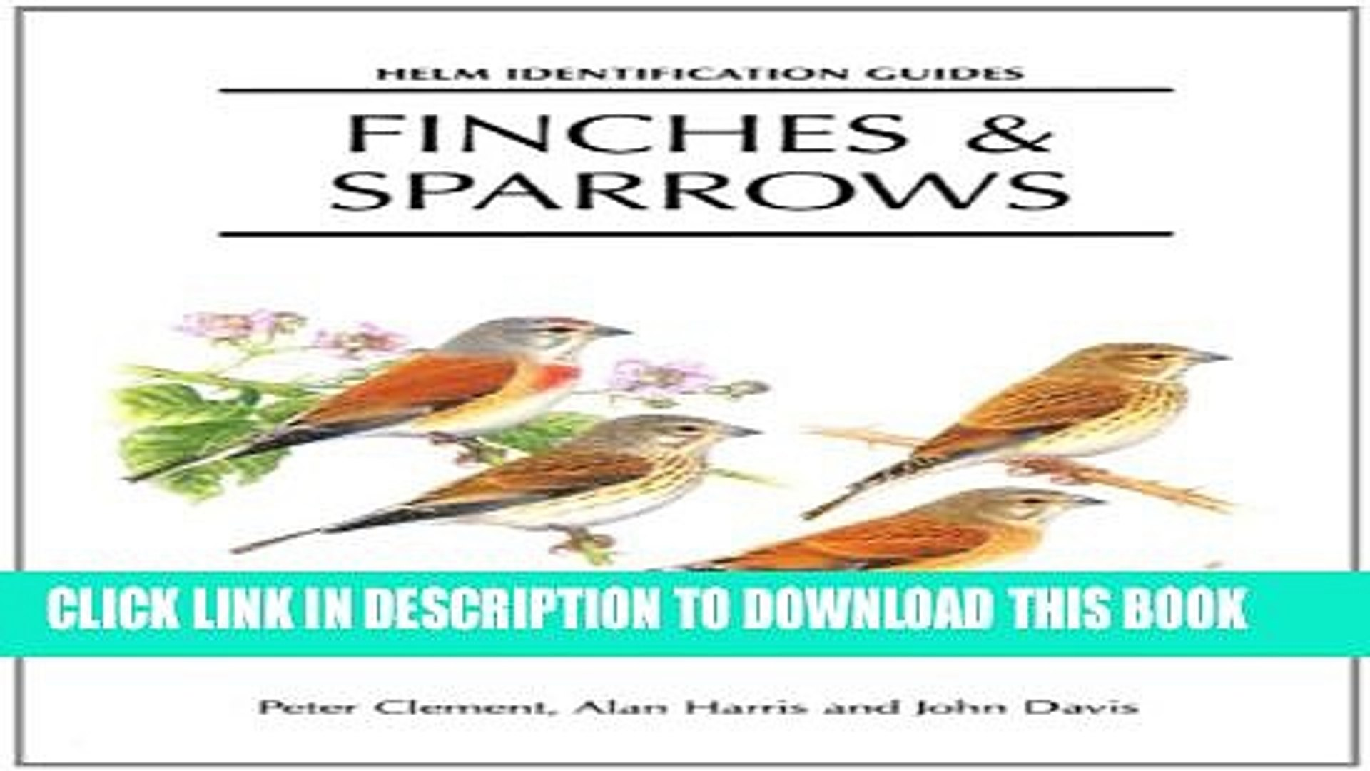 Finches and Sparrows (Helm Identification Guides)