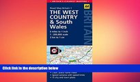 READ book  West Country   Wales Road Map (AA Road Map Britain)  FREE BOOOK ONLINE