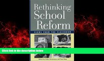 Pdf Online Rethinking School Reform: Views from the Classroom