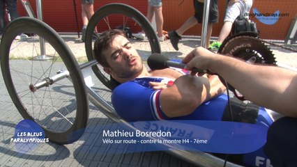 Mathieu Bosredon - 7ème contre la montre vélo sur route H4 - Jeux Paralympique Rio 2016