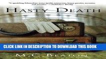 [PDF] Hasty Death: An Edwardian Murder Mystery (Edwardian Murder Mysteries Book 2) Popular Colection