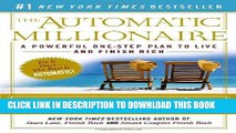 [PDF] The Automatic Millionaire: A Powerful One-Step Plan to Live and Finish Rich Popular Collection