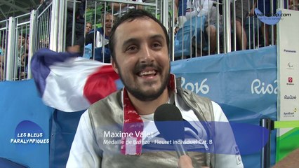 Maxime Valet - Médaille de Bronze Fleuret individuel Cat.B - Jeux Paralympiques Rio 2016