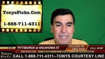 Oklahoma St Cowboys vs. Pittsburgh Panthers Free Pick Prediction NCAA College Football Odds Preview 9/17/2016