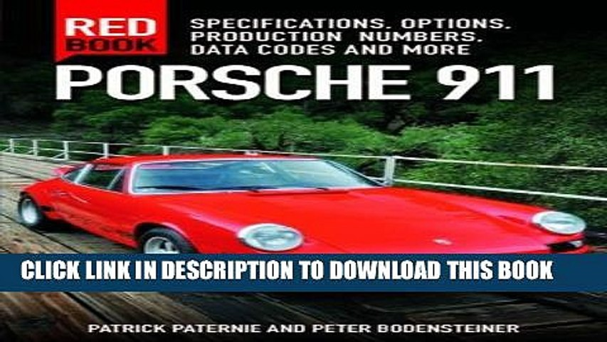 Porsche 911 Red Book 3Rd Edition Specifications Options Production Numbers Data