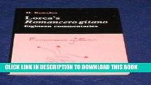 "[PDF] Lorca s ""Romancero Gitano"": Eighteen Commentaries Full Colection"