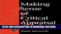 [PDF] Making Sense of Critical Appraisal (Hodder Arnold Publication) Popular Online