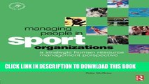 [PDF] Managing People in Sport Organizations (Sport Management Series) Full Colection