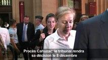 Procès Cahuzac: le tribunal rendra sa décision le 8 décembre