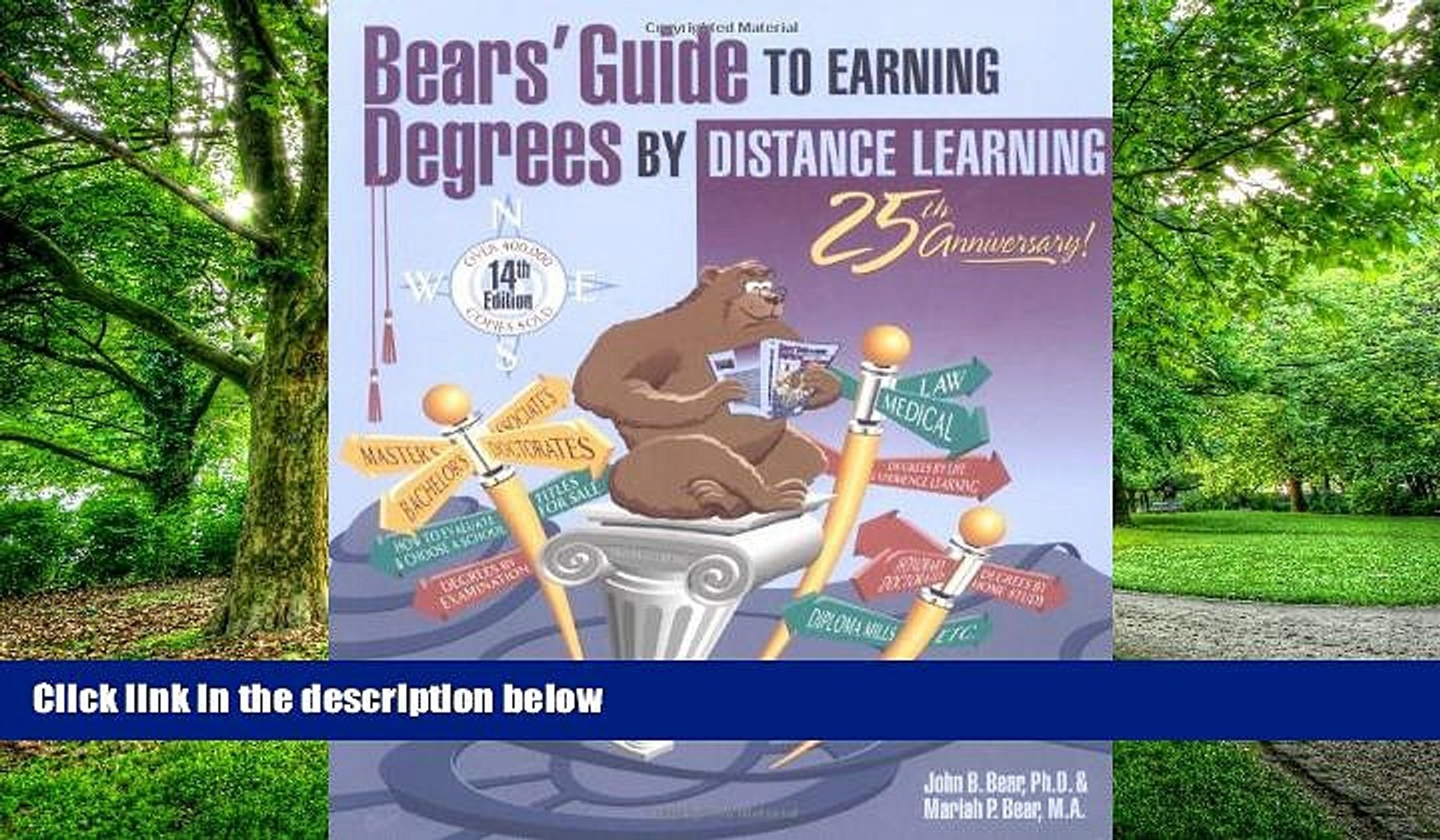 Big Deals  Bears  Guide to Earning Degrees by Distance Learning  Best Seller Books Best Seller
