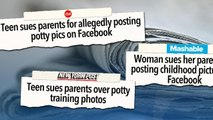 Teen sues parents for posting potty-training photos online