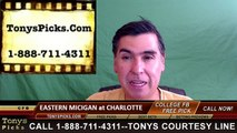 Charlotte 49ers vs. Eastern Michigan Eagles Free Pick Prediction NCAA College Football Odds Preview 9/17/2016