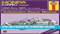 [PDF] Honda Civic CVCC: 1980 thru 1983: All Models 1.3   1.5 liter (Automotive Repair Manual) Full