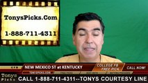 Kentucky Wildcats vs. New Mexico St Aggies Free Pick Prediction NCAA College Football Odds Preview 9/17/2016